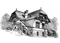 Эскизы домов tsokoloniy etazh mansarda balkon1