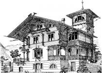 Эскизы домов tsokolniy etazh bashnya1