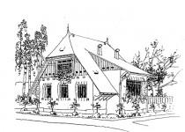 Эскизы домов sadoviy mansarda