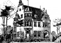 Эскизы домов dva etazha mansarda bashnya