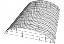 Каракас металлоконструкции арочного типа